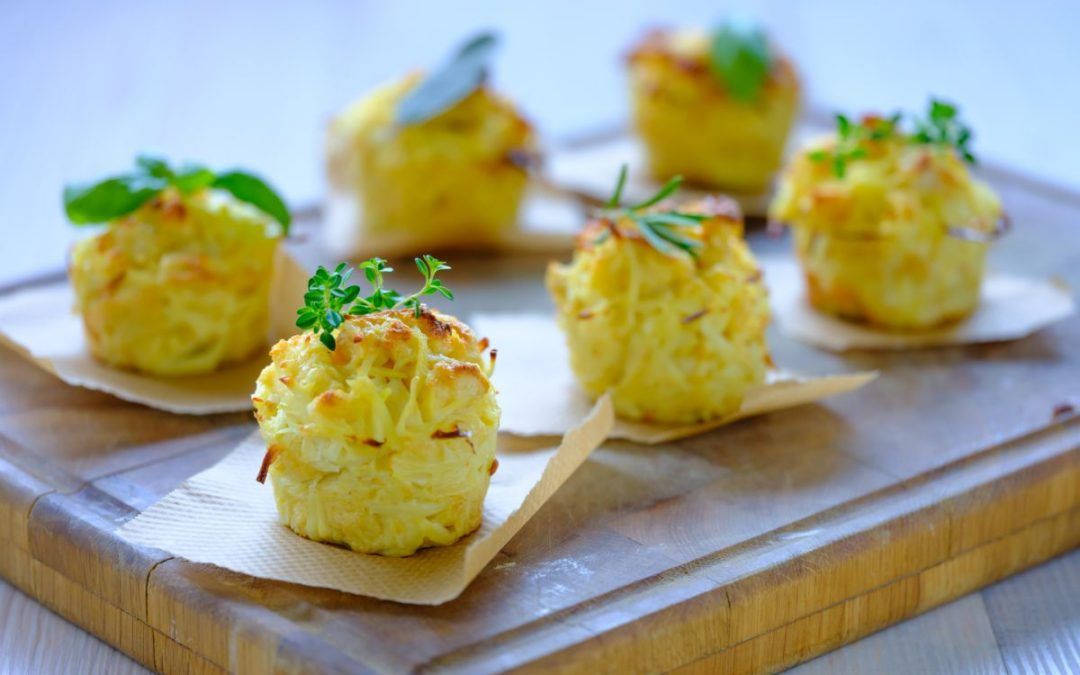 Brood-aardappel rösti in muffinvorm