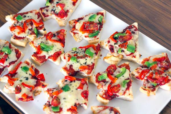 Kerstboompizza's