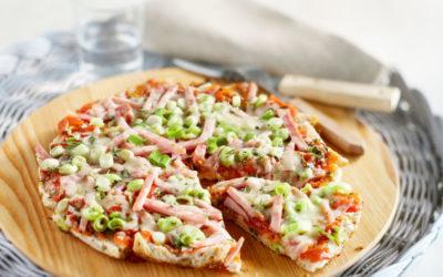 Broodpizza met ham