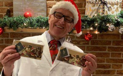 Kerstchocolade door de brievenbus